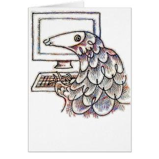 Pangolin auf einem Computer Karte