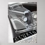 Panhard Vintages Auto-Plakat