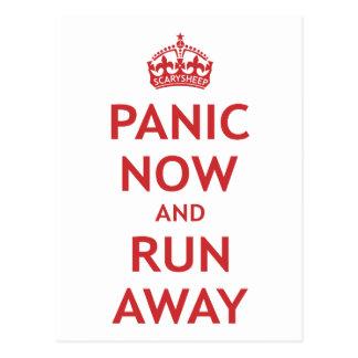 Panik jetzt und Lauf weg Postkarte