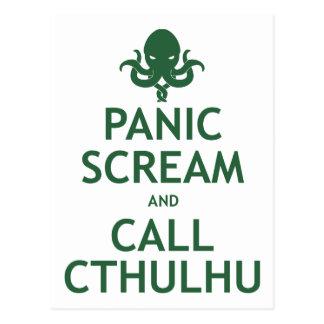 Panik-Schrei und Anruf Cthulhu Postkarte