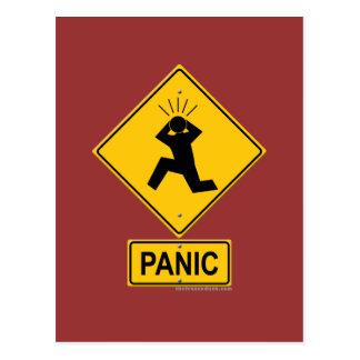 Panik-Warnzeichen Postkarte