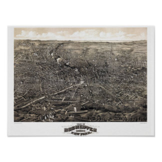 Panorama 1880's Rochesters New York Poster
