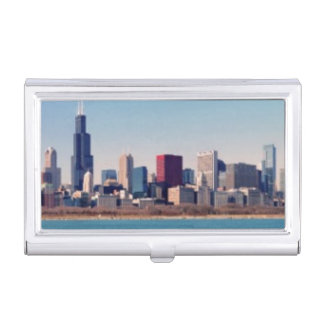 Panorama der Chicago-Skyline Visitenkarten Dose