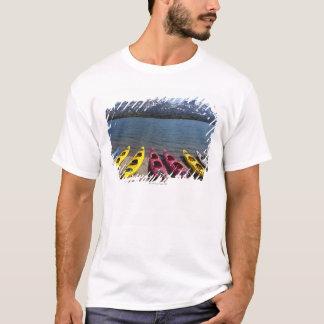 Panorama der Kajaks auf Bernard See in Alaska 2 T-Shirt