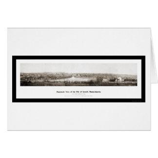 Panorama-Foto 1874 Lowells MA Karte