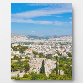 Panorama von Athen, Griechenland Fotoplatte