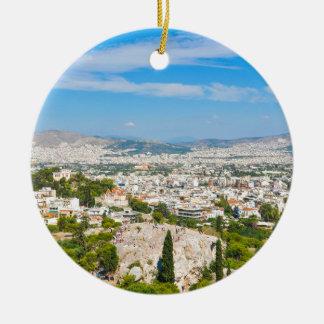 Panorama von Athen, Griechenland Keramik Ornament