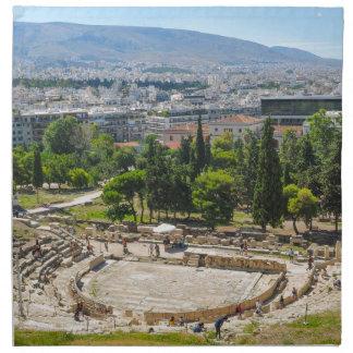 Panorama von Athen, Griechenland Stoffserviette