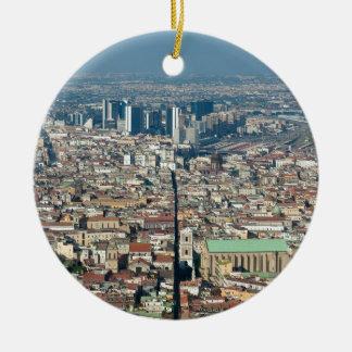 Panorama von Neapel Keramik Ornament