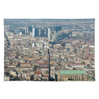 Panorama von Neapel Tischset