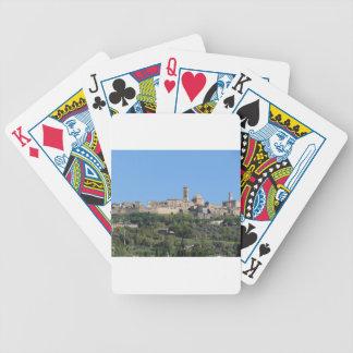 Panorama von Volterra Dorf, Toskana, Italien Bicycle Spielkarten