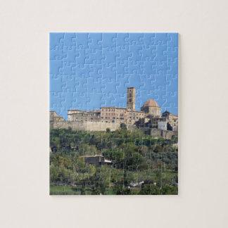 Panorama von Volterra Dorf, Toskana, Italien Puzzle