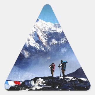 Panoramablick Ama Dablam HöchstEverest Berges Dreieckiger Aufkleber