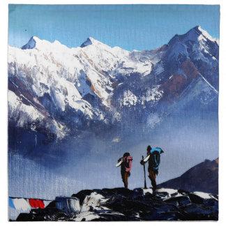 Panoramablick Ama Dablam HöchstEverest Berges Serviette
