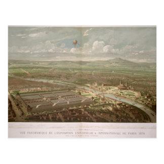 Panoramablick der Ausstellung Universelle Postkarte