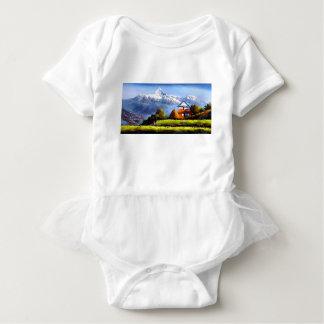 Panoramablick schönen Everest-Berges Baby Strampler
