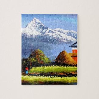 Panoramablick schönen Everest-Berges Puzzle