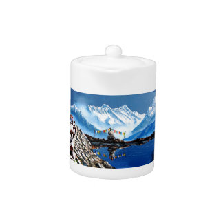 Panoramablick von Annapurna Berg Nepal
