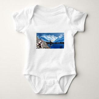 Panoramablick von Annapurna Berg Nepal Baby Strampler