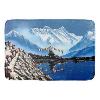 Panoramablick von Annapurna Berg Nepal Badematte