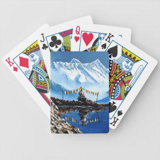 Panoramablick von Annapurna Berg Nepal Bicycle Spielkarten