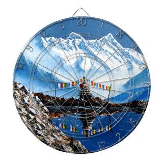 Panoramablick von Annapurna Berg Nepal Dartscheibe
