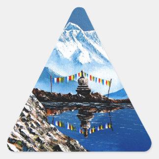 Panoramablick von Annapurna Berg Nepal Dreieckiger Aufkleber