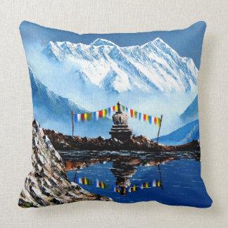 Panoramablick von Annapurna Berg Nepal Kissen