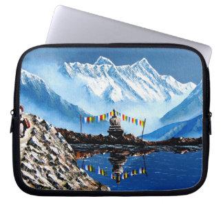 Panoramablick von Annapurna Berg Nepal Laptop Sleeve
