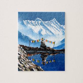 Panoramablick von Annapurna Berg Nepal Puzzle