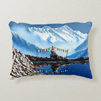 Panoramablick von Annapurna Berg Nepal Zierkissen