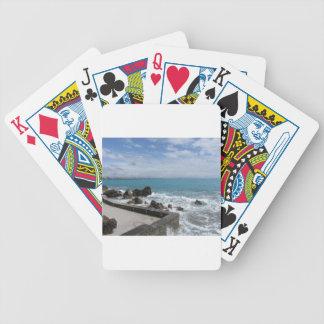 Panoramablick von Castiglioncello Küste in Toskana Bicycle Spielkarten