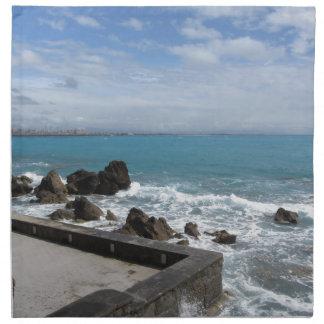 Panoramablick von Castiglioncello Küste in Toskana Stoffserviette