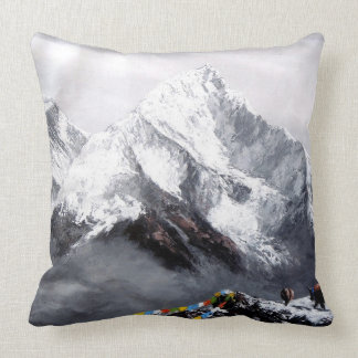 Panoramablick von Everest-Berg Kissen