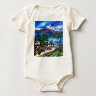 Panoramablick von Everest-Berg Nepal Baby Strampler