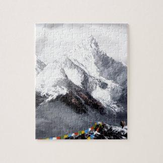 Panoramablick von Everest-Berg Puzzle