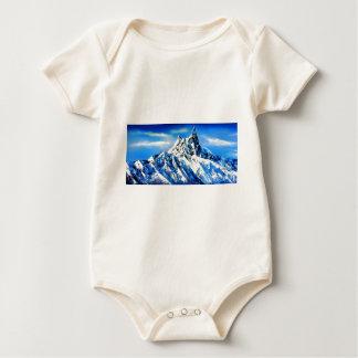 Panoramablick von Everest-Bergspitze Baby Strampler