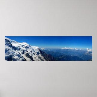 Panoramablick von Mont Blanc Poster