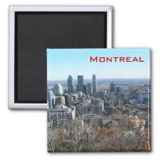 Panoramablick von Montreal Quadratischer Magnet