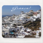 Panoramablick von Oia, Griechenland Mousepad
