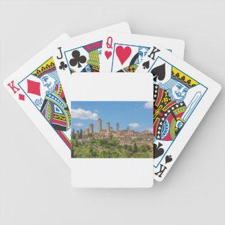 Panoramablick von San Gimignano Toskana Italien Bicycle Spielkarten