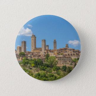 Panoramablick von San Gimignano Toskana Italien Runder Button 5,1 Cm