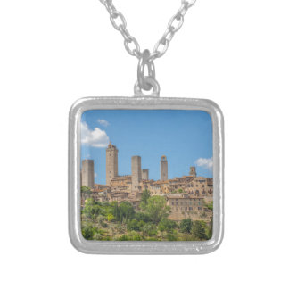 Panoramablick von San Gimignano Toskana Italien Versilberte Kette