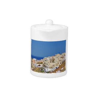 Panoramablick von Santorini