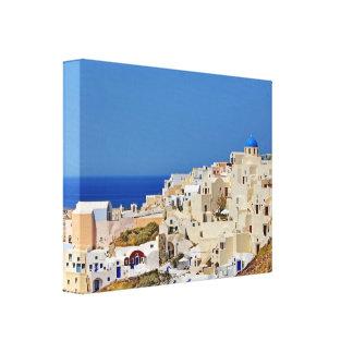 Panoramablick von Santorini Leinwanddruck