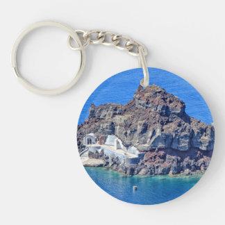 Panoramablick von Santorini Schlüsselanhänger