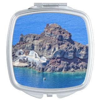 Panoramablick von Santorini Taschenspiegel