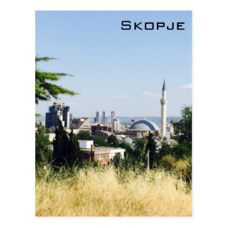 Panoramablick von Skopje Postkarte