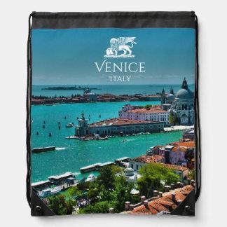 Panoramablick von Venedig, Italien Turnbeutel