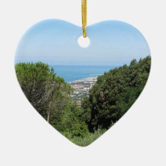 Panoramische Luftaufnahme von Livorno-Stadt Keramik Ornament